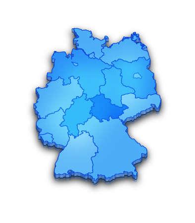 germany map Stock Photo - 9538509