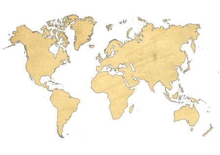 Weltkarte Standard-Bild - 9538514