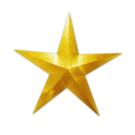shinning: golden star Stock Photo