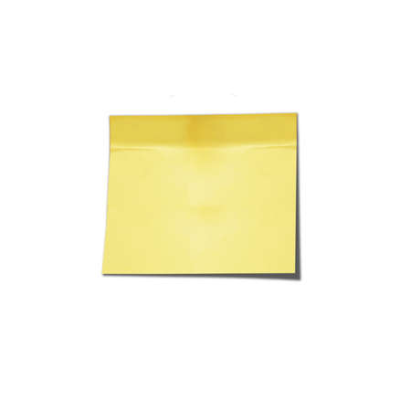 post it note: Blank note isolated