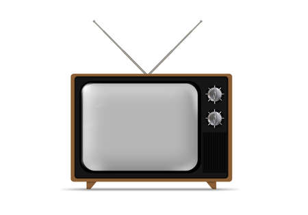 Oude grungy Vintage TV