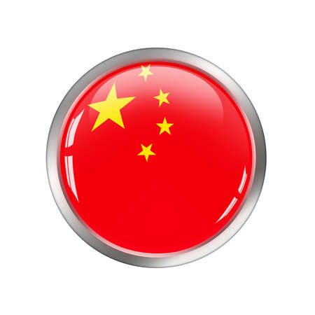 National Flag of China, button photo