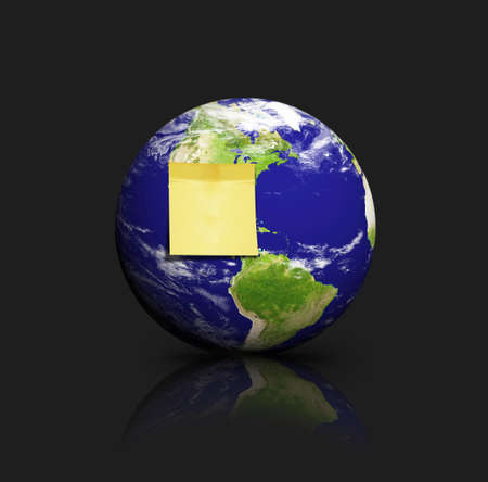 note on earth Stock Photo - 9878467