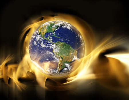 earth in space Stock Photo - 9878473