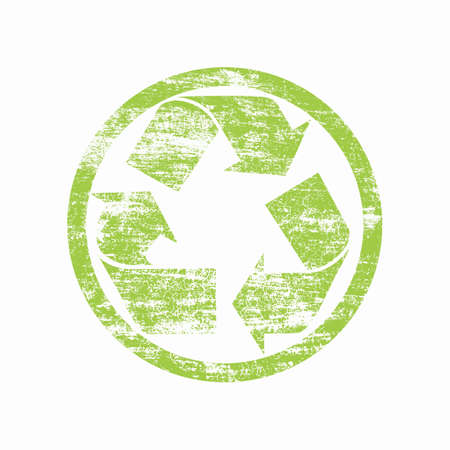 green recycled sign over white Stock Photo - 9878486