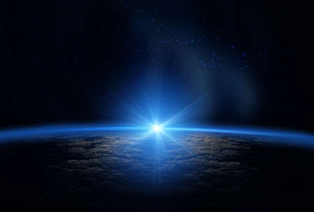 Earth as seen from outer space Stock Photo - 9878466