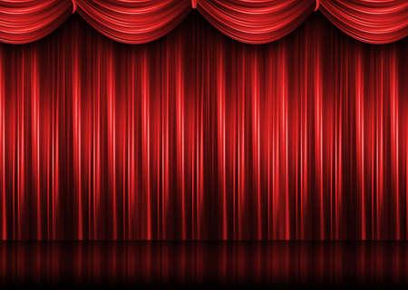 Rote Theater Vorhang Standard-Bild - 9878480