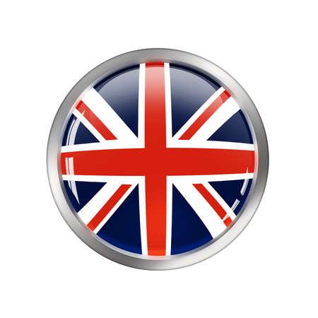 meer: United Kingdom StickerButton for design Stock Photo