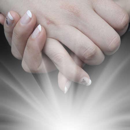handen, conceptueel beeld Stockfoto