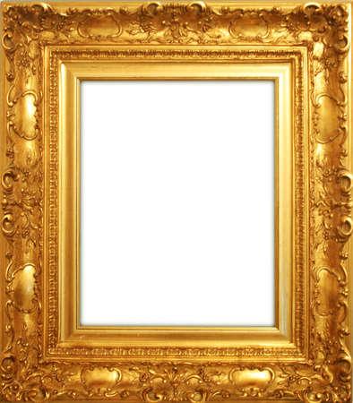 old antique gold frame 写真素材