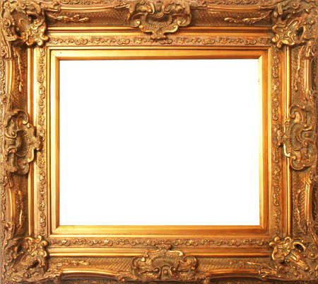 old antique gold frame photo