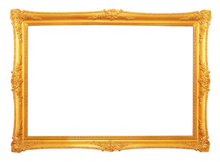 gilt: old antique gold frame Stock Photo
