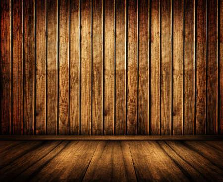 oude houten wanden en vloer
