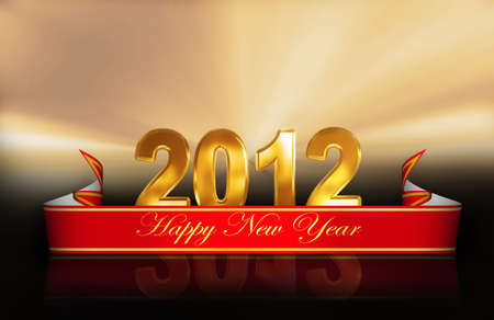 3D numbers 2012 for New years photo