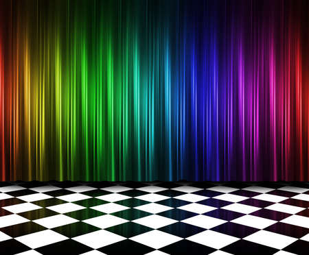 Regenbogen Vorhang Standard-Bild - 10794241