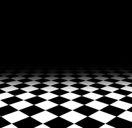 black floor: floor pattern chess