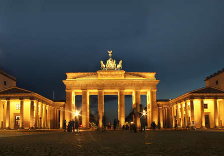 brandenburg: Brandenburg Gate in Berlin at night