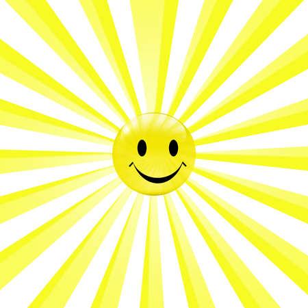 fun in the sun: smiley sun