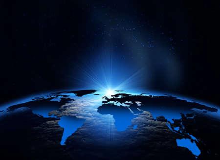 Erde aus dem Weltraum gesehen