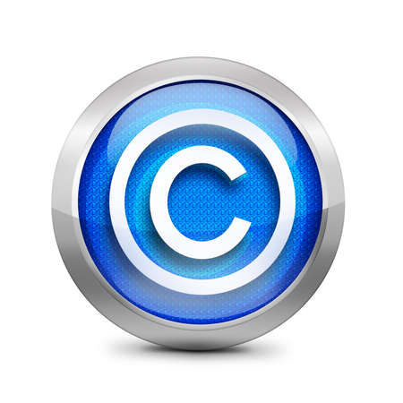 copyrighted: blue copyright button