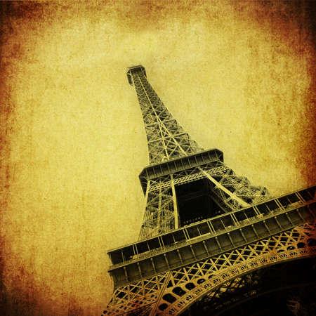 d'eiffel: Vintage image of Eiffel towe