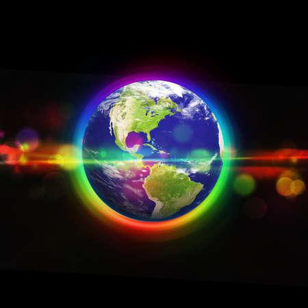 aarde in de ruimte Stockfoto