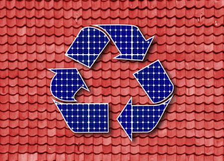 renewable energy solar panels Stock Photo - 13700976