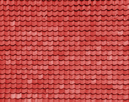 colourfully:  red brick roof Stock Photo