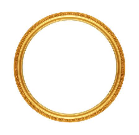 antique gold frame: old antique gold frame Stock Photo