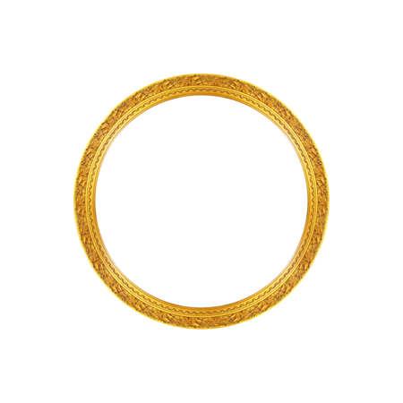 elipse: viejo marco de oro antiguo