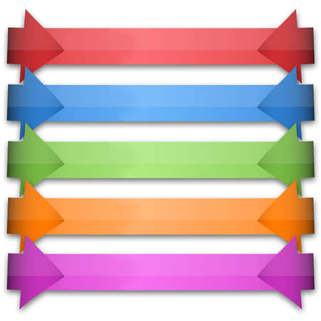 continue: colorful arrows Stock Photo