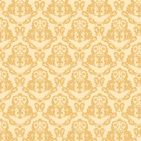 Damask seamless floral pattern photo