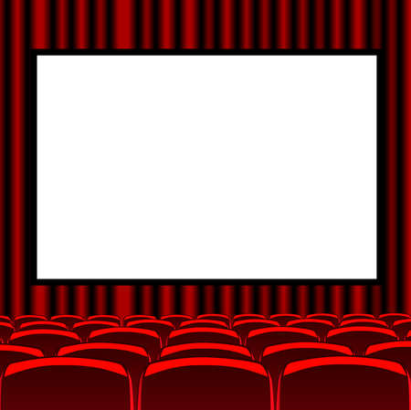 red room cinema Vector