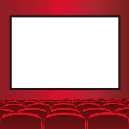 red room cinema Vector