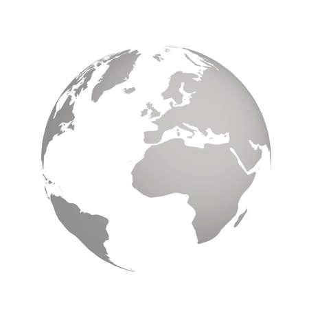 Geïllustreerde wereldbol