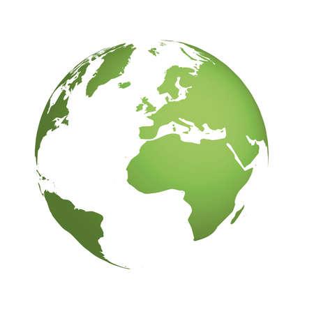 wereldbol groen: Geïllustreerde wereldbol