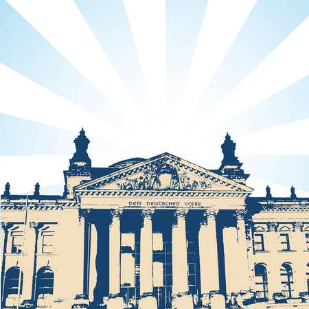parliament:  German Parliament Illustration