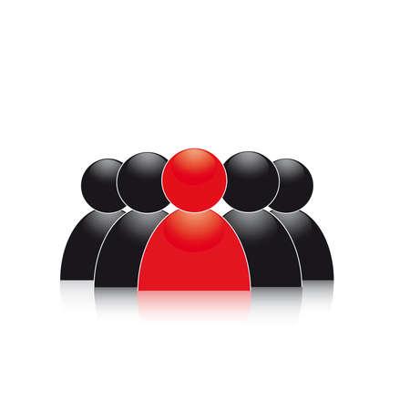 Company boss. Teamwork. Concept   イラスト・ベクター素材