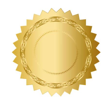 illustratie van goud zegel