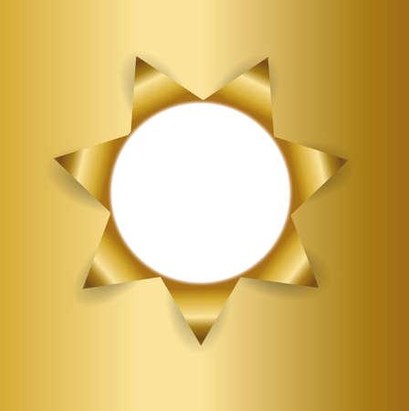 letras doradas: Fondo de oro Ripped Vectores