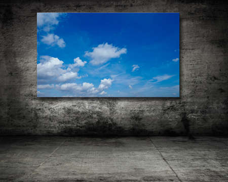 scherm in uitstekende ruimte