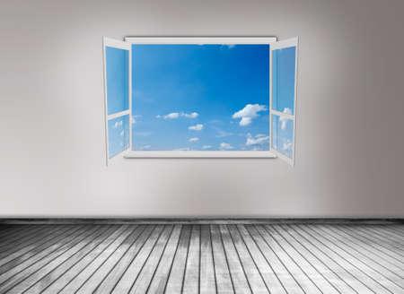 open window: Ventana abierta