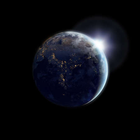 earthlike: Earth as seen from outer space  Stock Photo