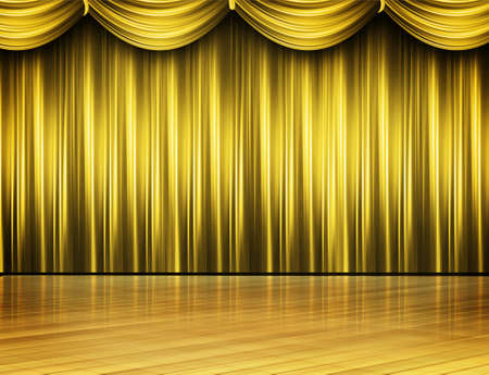archiitecture: Gold Colored Stage Theater