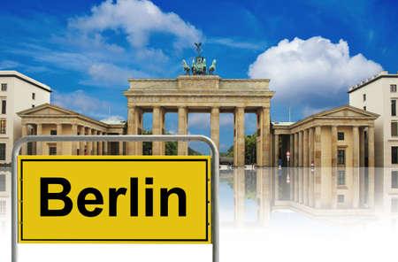 west gate: Brandenburg gate, berlin, germany Stock Photo