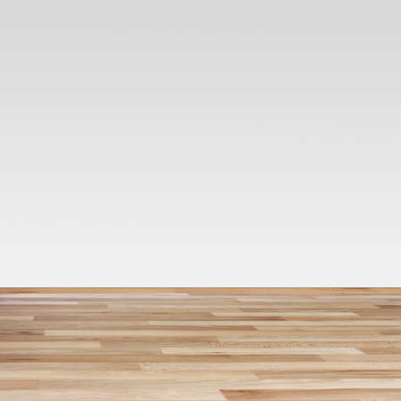 parkett: Brown laminate Texture and white wall Stock Photo