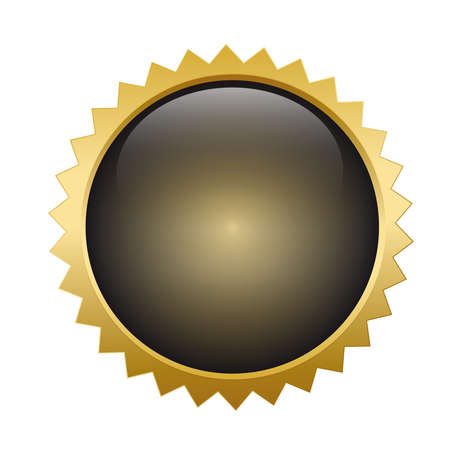 Gold button shiny metallic Vector