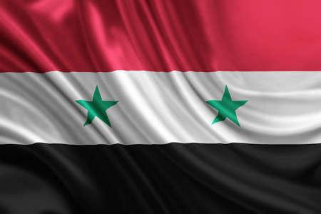 red flag up: syria flag
