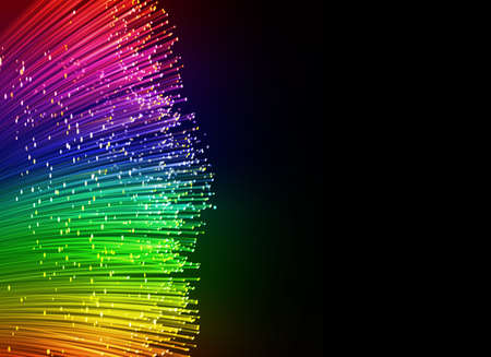 photon: optic fiber cables, abstract