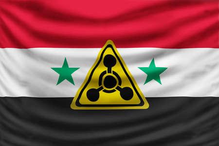 symbole chimique: Syrie crise Banque d'images